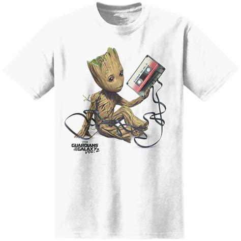 Baby Groot Im Groot Black 2 T Shirt marvel s guardians of the galaxy vol 2 baby groot t shirt white merchandise zavvi
