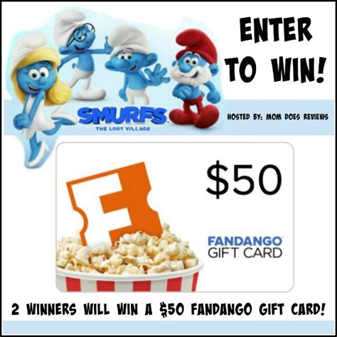 What Movie Theaters Take Fandango Gift Cards - enter to win 50 fandango gc to watch smurfs us only ends 4 20
