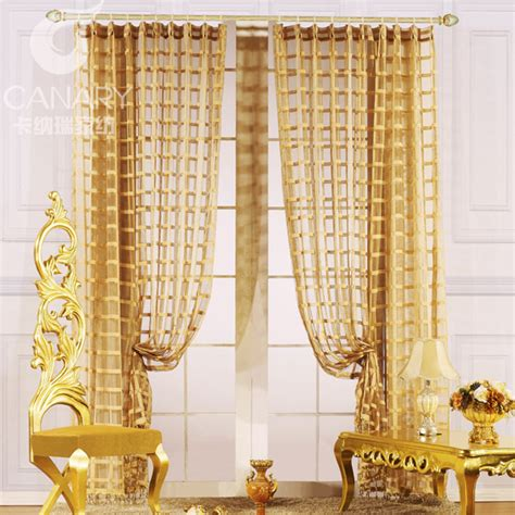 gold living room curtains free shipping gold fashion quality living room curtain