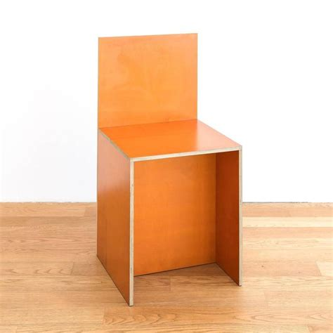 Donald Judd Furniture by Donald Judd Plywood Chair Yellow Marked Judd 1992 For Sale At 1stdibs