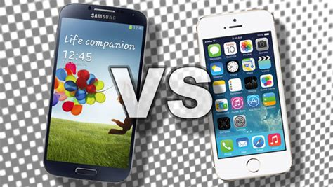 iphone v galaxy iphone 5s vs galaxy s4