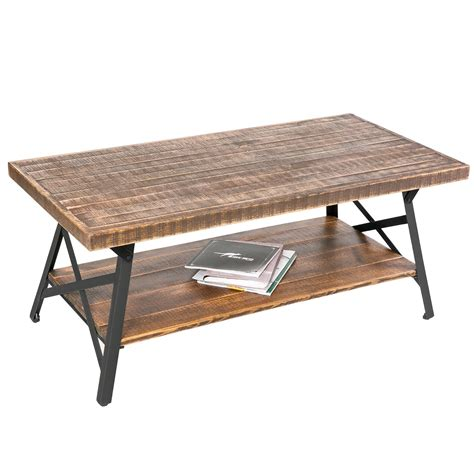 rustic metal table ls rustic wood coffee table with metal legs end table living