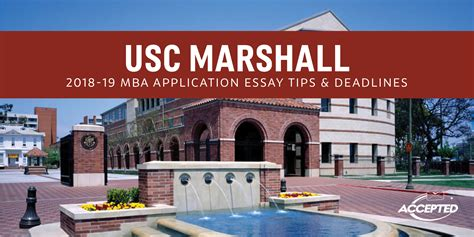 Usc Mba Admission by Usc Marshall Mba Application Essay Tips Deadlines The