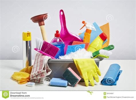 house cleaning images house cleaning products pile on white background stock