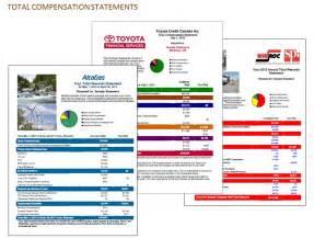 total rewards statement template total compensation statements jp communication