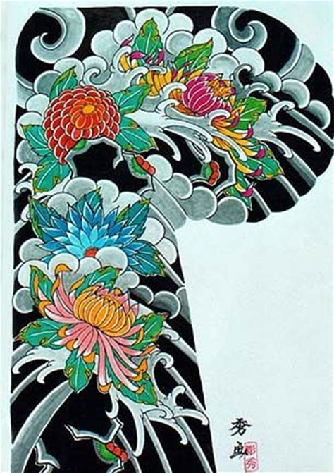 oriental tattoo flash art 17 best images about chrysanthemums on pinterest the
