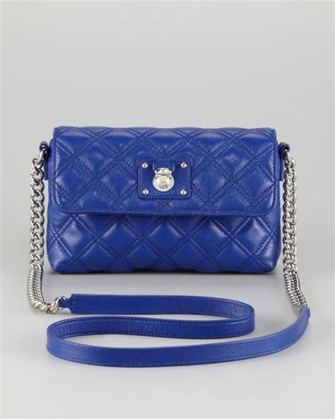 Marc Single Quilted Bag by Marc Single Quilted Large Crossbody Bag Blue In