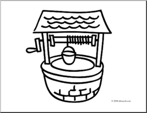 free coloring pages of water well watering well colouring pages