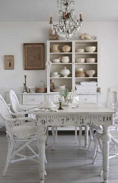 simple white cottage farmhouse dining room the white