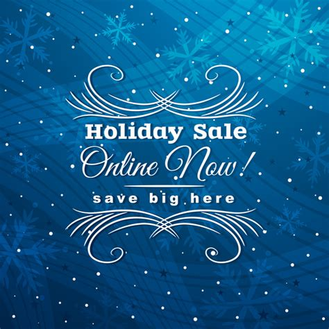 blue christmas discount sale background vector 03 vector