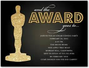 oscar invitation template oscar s honors invitation postcards in black
