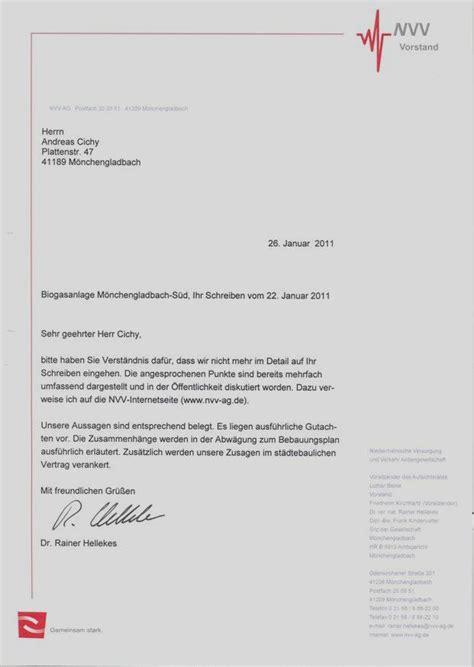 Offizieller Brief Mit Anlagen B 252 Rgerzeitung F 252 R M 246 Nchengladbach Und Umland 187 Archiv 187 Methangas Anlage Wanlo Dr