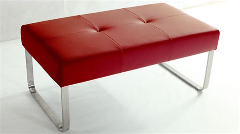 red dining bench modern red dining bench casual dining chrome or