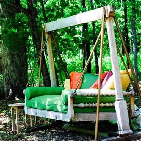 diy outdoor swing dishfunctional designs this ain t yer grandma s porch