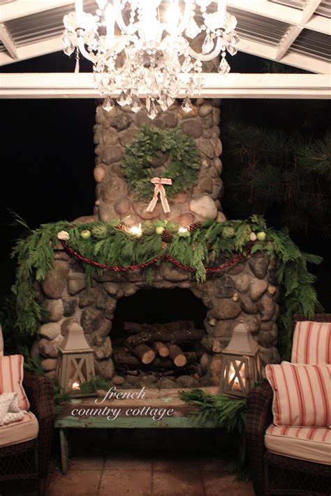 Country Cottage Fireplaces by Outdoor Rock Fireplace Dressed For