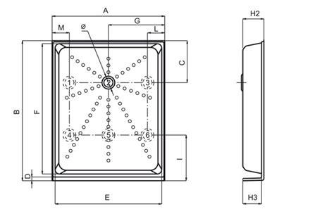 piatto doccia in plastica piatto doccia a cassetta con alette in plastica dp26