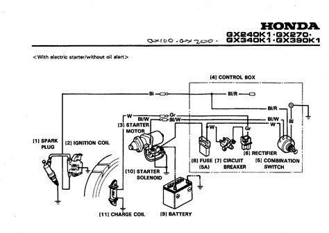 honda gx390 ignition wiring diagram with schematic in electric