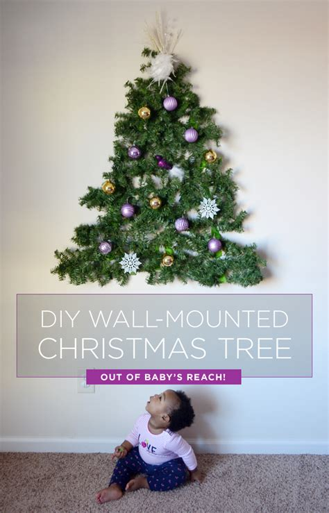 how to make a wall christmas tree a baby put a diy tree on the wall