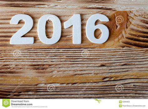 new year 2016 wood new year postcard frame date wood texture number stock