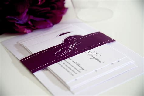 Purple Wedding Invitations by Wedding Invitations And Baby Shower Invitations
