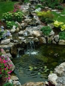 75 relaxing garden and backyard waterfalls digsdigs