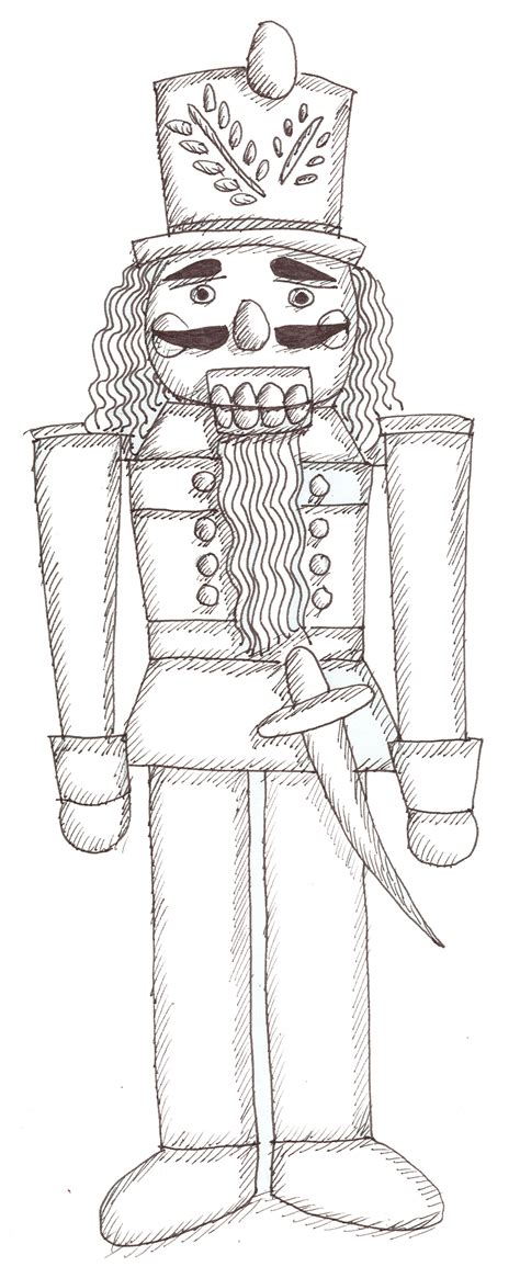 free coloring pages of nutcracker soldier