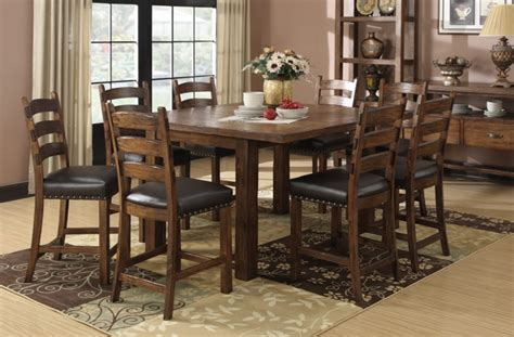 rustic counter height table and chairs decorative trend