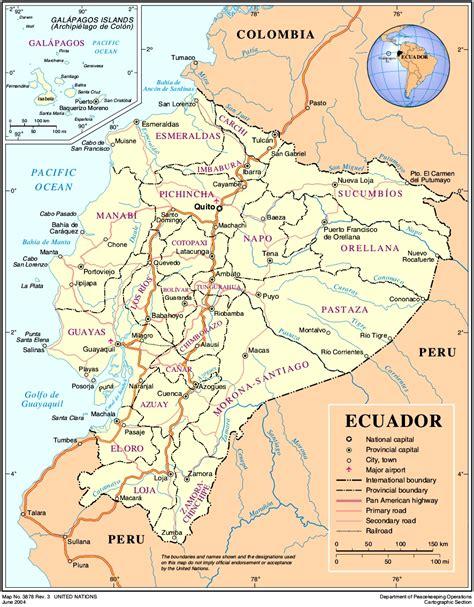 Landkarten Drucken Online by Landkarte Ecuador 220 Bersichtskarte Weltkarte