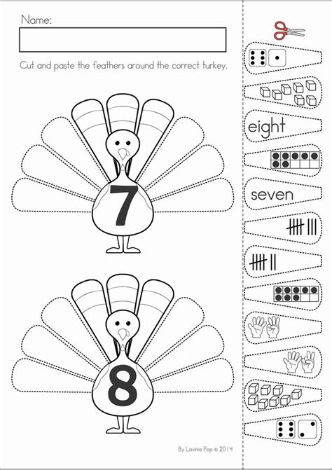 thanksgiving activities for preschoolers math turkey