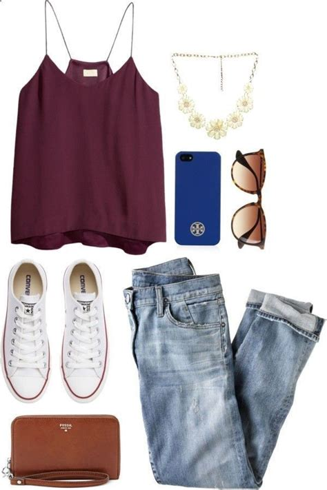 Nir Blus Casual Maroon casual burgundy tank white converse light blue gold and accessories fashion