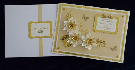 Handmade 50th Wedding Anniversary Cards - golden 50th wedding anniversary card husband