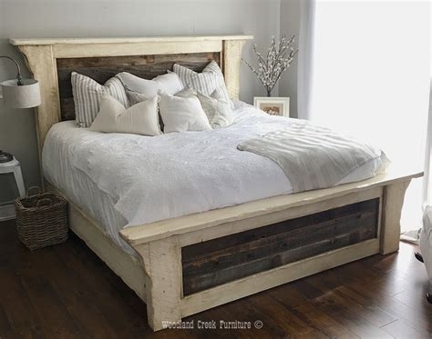 farm bed farmhouse bed cottage bed coastal bed white wash bed