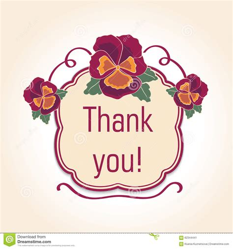 illustrator template thank you card vintage thank you cards for wedding decoration stock