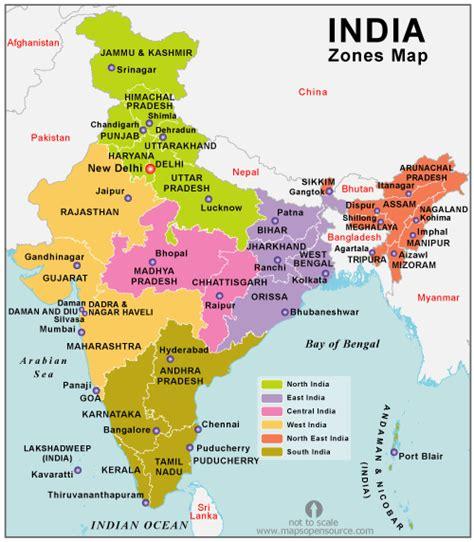 india zones map map  india zones states open