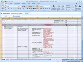 risk analysis excel template risk assessment template images