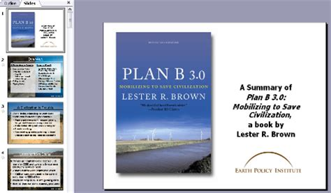 book report powerpoint presentation bookstore plan b 3 0 mobilizing to save civilization