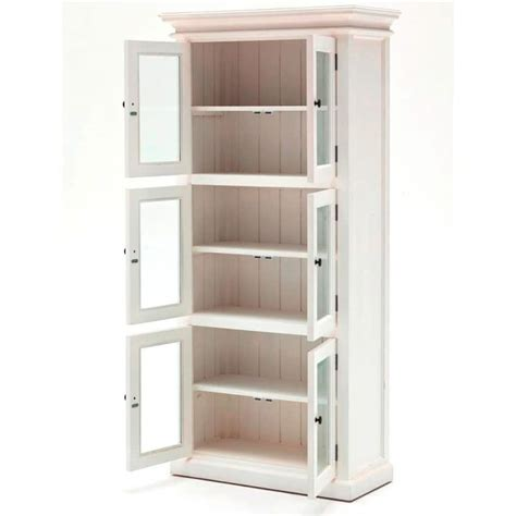 Halifax White Kitchen Storage Cabinet 6 Door Akd Furniture White Kitchen Storage Cabinet