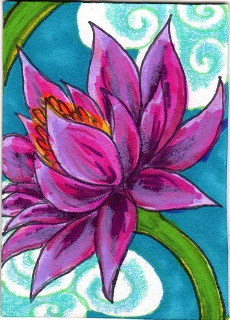 image gallery lotus flower art ks2