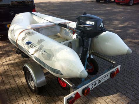 rubberboot op trailer verkocht zgan rubberboot 2 80 meter 4 pk yamaha op