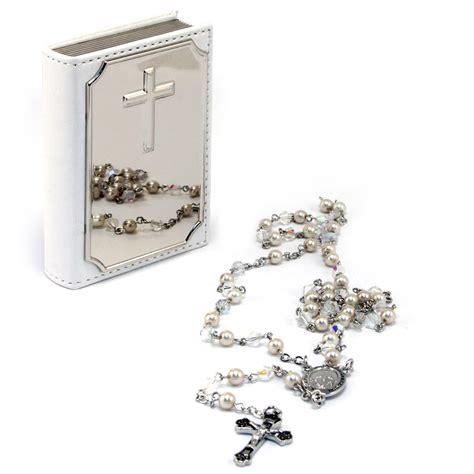 rosary bead cases whitehill rosary bead and leatherette bible set