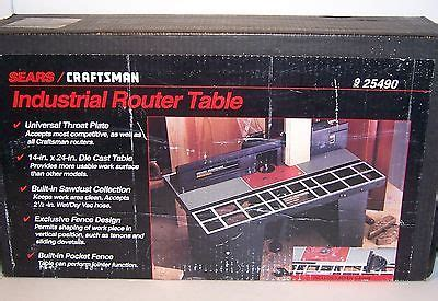 sears craftsman industrial router table model