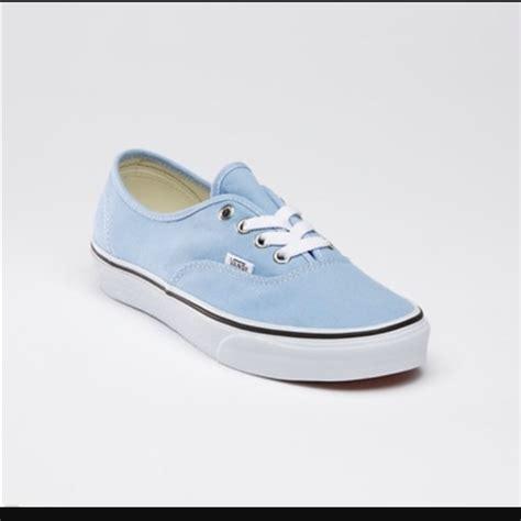 light blue womens vans shoes vans shoes classic light blue canvas shoe poshmark