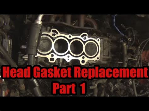 head gasket repair part 1 head gasket replacement part 1 2003 honda civic youtube