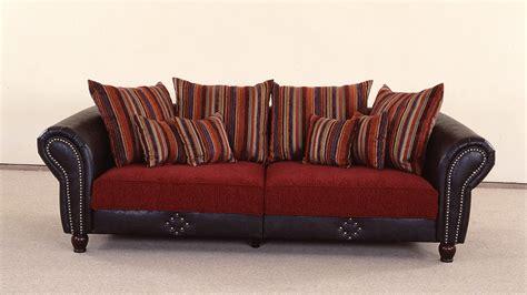 Sofa Antik big sofa corin antik dunkel braun und rot inkl kissen