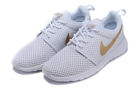 brshoes gold mens womens nike roshe run br the sky white gold sneakers