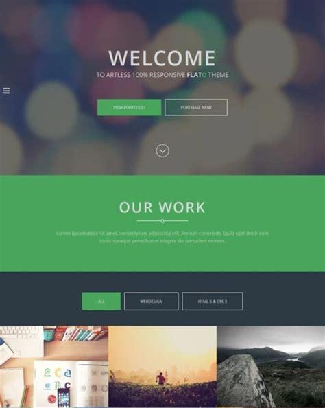 25 best flat design website templates dzineflip