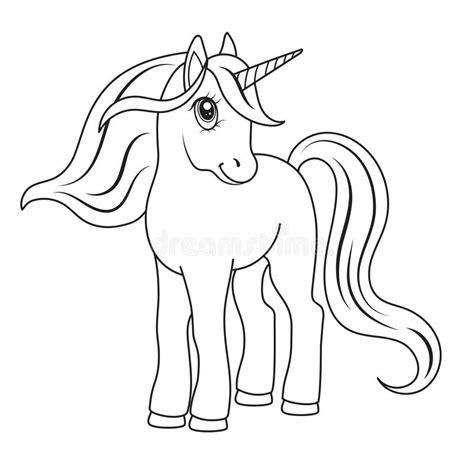 imagenes unicornios para dibujar bosquejo de un unicornio para colorear ilustraci 243 n del