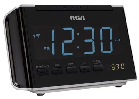 automatic time set clock radio rca rc46r am fm alarm clock radio with large blue led display