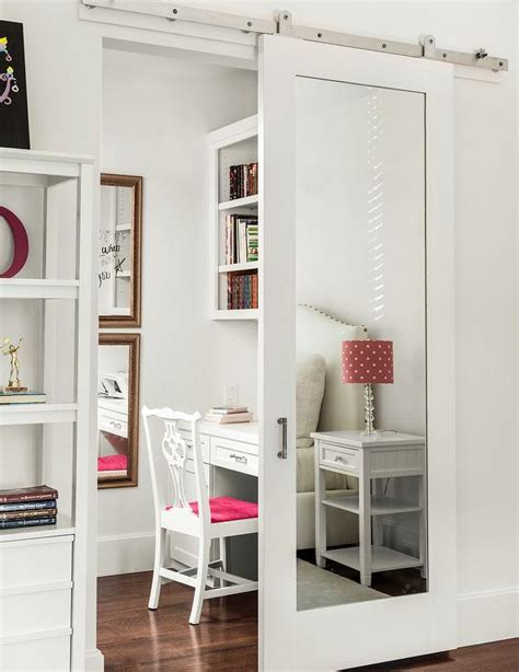 Mirrored Sliding Closet Doors For Bedrooms by Barn Door Bedroom Mirrored Sliding Closet Barn Door