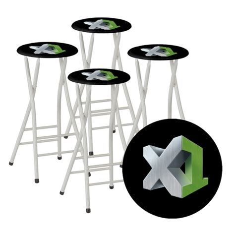 custom logo portable bar stools to go set of 4